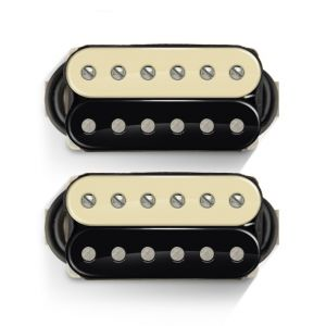Bare Knuckle Black Dog Humbucker Set (Unpotted, Wide Space Bridge, Short Leg, 4 Conductors,