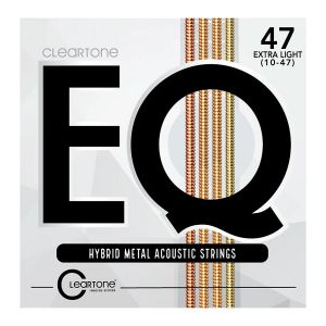 Cleartone Eq Hybrid Metal Acoustic Strings Extra Light 10-47