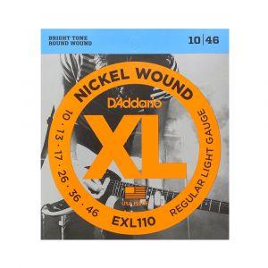 D'Addario Electric 10-46 EXL110 Nickel Wound Regular Light