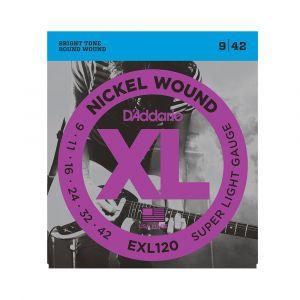 D'Addario 09-42 EXL120 Nickel Wound Super Light