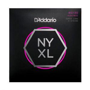 D'Addario Electric Bass 45-130 NYXL Super Long  5 Cuerdas