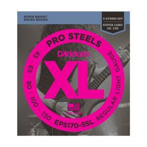 D'Addario Electric Bass 45-130 EPS170-5SL 5 Cuerdas