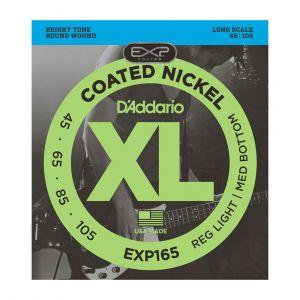 D'Addario Electric Bass 45-105 EXP165 Coated 4-Cuerdas