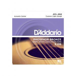 D'Addario Acoustic 11-52 EJ26 Phosphor Bronze