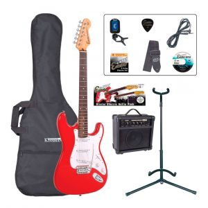Encore Electric Guitar Pack E6 Red
