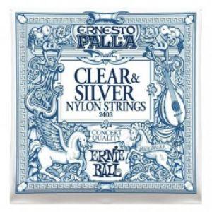 Ernie Ball Ernesto Palla Nylon Classical Clear & Silver | Acoustic Strings