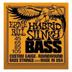 Ernie Ball 2813 Slinky entorchado redondo, Hybrid 45-105 Cuerdas bajo