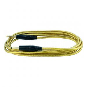 RockCable Instrument Cable – Straight, 3 meters, Gold