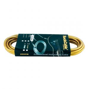 RockCable Instrument Cable – Straight, 6 m, Gold