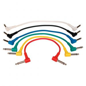 RockCable Patch Cable Angled Jack – Multi Color, 6 Unidades, 30 cm