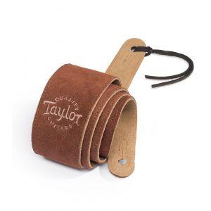 Taylor Chocolate Suede Logo Guitar Strap