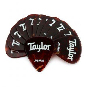 Taylor Celluloid 351 Picks, Tortoise Shell, 0.96mm, 12-Pack