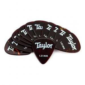 Taylor Celluloid 351 Picks, Tortoise Shell, 1.21mm, 12-Pack