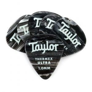 Taylor Premium 351 Thermex Ultra Picks, Black Onyx, 1.00mm, 6-Pack