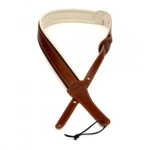 "Taylor Renaissance Strap, Medium Brown Leather, 2.5"""