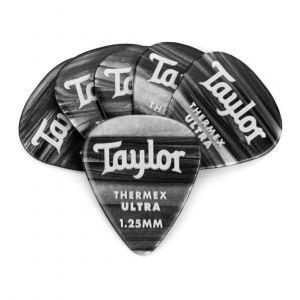 Taylor Premium 351 Thermex Ultra Picks, Black Onyx, 1.25mm, 6-Pack