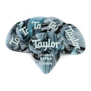 Taylor Premium 351 Thermex Ultra Picks, Blue Swirl, 1.25mm, 6-Pack