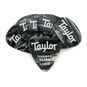 Taylor Premium 351 Thermex Ultra Picks, Black Onyx, 1.50mm, 6-Pack