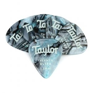 Taylor Premium 351 Thermex Ultra Picks, Blue Swirl, 1.50mm, 6-Pack