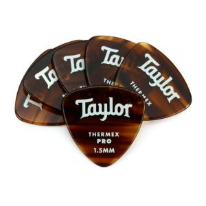 Taylor Premium 346 Thermex Pro Paquete de 6 Púas Extra Duras - Tortoise