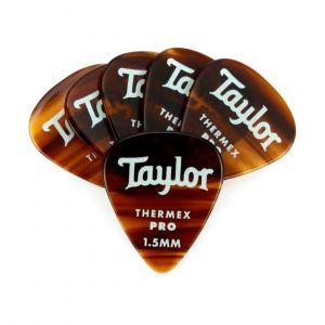Taylor Premium 351 Thermex Pro Picks, Tortoise Shell, 1.50mm, 6-Pack