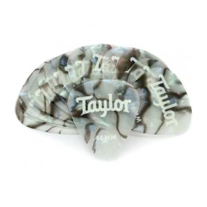 Taylor Celluloid 351 Picks, Abalone, 0.46mm, 12-Pack