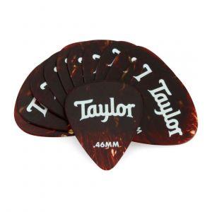 Taylor Celluloid 351 Paquete de 12 Púas Blandas 0.46mm – Tortoise Shell