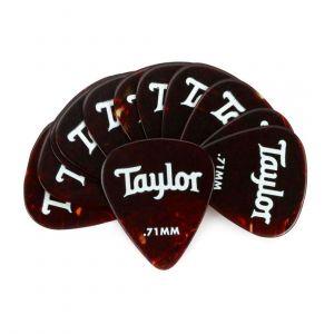 Taylor Paquete de 12 Púas Celluloid 351 Medium 0.71 mm - Tortoise Shell