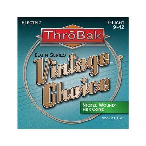 ThroBak Vintage Choice Nickel Wound Hex Core X-Light 9-42