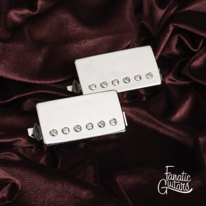 Throbak Pre-T-301 ME-301 MXV PAF Humbucker Set (Shiny Nickel)
