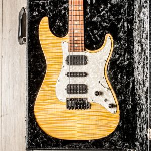 Tom Anderson Drop Top Classic Natural Yellow Sun with binding & case