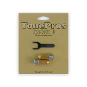 Tornillos de bloqueo TonePros Standard SPRS2-C, cabeza grande (cromado)