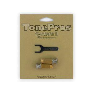 Tornillos de bloqueo TonePros Standard SPRS2-N, cabeza grande (níquel)