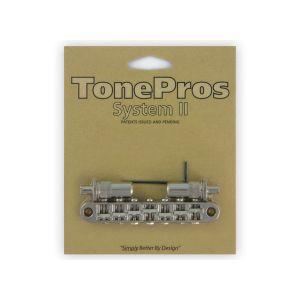 Puente TonePros Tuneomatic Métrico, postes grandes y silletas con muesca, 7 cuerdas (níquel)