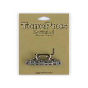 TonePros AVR2-N Tune-O-Matic Bridge, ABR1 Replacement (Nickel)