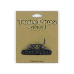 TonePros TP6-B Tune-O-Matic Bridge Standard, Small Posts (Black)