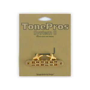 TonePros TP6-G Tune-O-Matic Bridge Standard, Small Posts (Gold)
