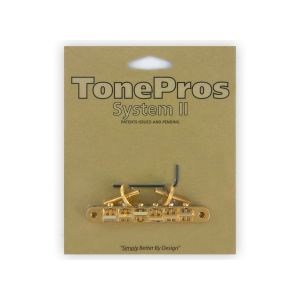 TonePros AVR2-G Tune-O-Matic Bridge, ABR1 Replacement (Gold)