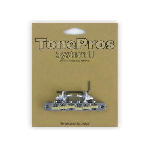 TonePros puente Tune-O-Matic NVR2G-C, AVR2 con postes Nashville ''G Formula Saddles'' (cromado)