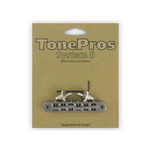 Puente TonePros Tune-O-Matic Standard, postes pequeños, Roller (níquel)