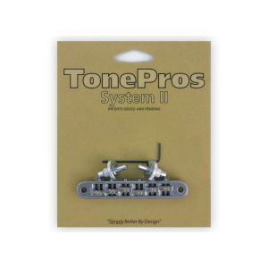 TonePros Tune-O-Matic Bridge Standard, Small Posts, Roller (Chrome)