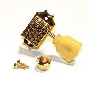 TonePros TPK33-G Clavijeros Kluson 3 + 3, Push in bushing (Dorado)