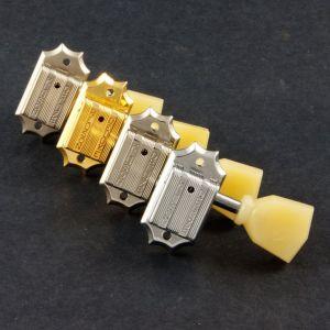 TonePros Tuners Kluson 3 + 3, Push in bushing (Satin Nickel)