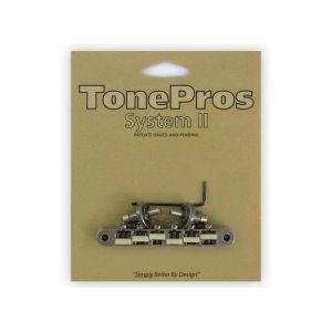 TonePros NVR2G-AS Tune-O-Matic Bridge, AVR2 with Nashville Post,