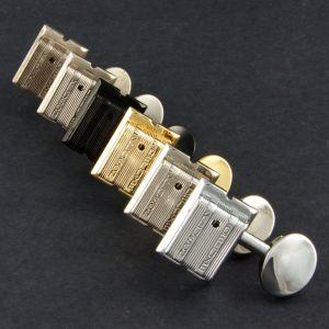 TonePros Tuners Kluson 6 in line, Bolt bushing locking (Nickel)