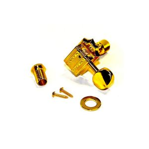 TonePros Tuners Kluson 6 in line, Bolt bushing locking (Gold)