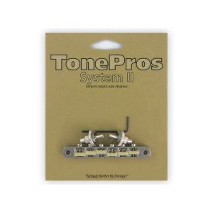 Puente TonePros Tuneomatic NVR2G-N, AVR2 con postes Nashville ''G Formula Saddles'' (níquel)