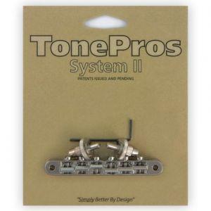 TonePros Tune-O-Matic Bridge, AVR2 with Nashville Post (Nickel)