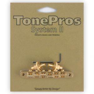 TonePros Tune-O-Matic Bridge, AVR2 with Nashville Post (Gold)