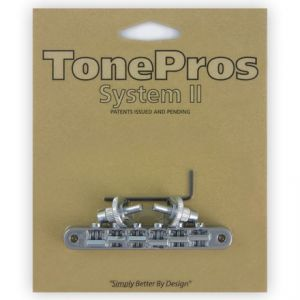 TonePros Tune-O-Matic Bridge, AVR2 with Nashville Post (Chrome)